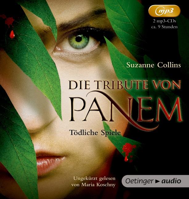 Suzanne Collins,  Hanna, Hanna Hörl, Maria Koschny, Sylke Hachmeister, Peter Klöss - Die Tribute von Panem 1, 2 Audio-CD, MP3 (Hörbuch) - Tödliche Spiele (2 mp3 CD), Lesung