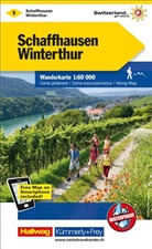 Hallwag Kümmerly+Frey AG, Hallwa Kümmerly+Frey AG - Kümmerly+Frey Karte Schaffhausen, Winterthur Wanderkarte