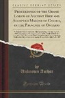 Unknown Author - Proceedings of the Grand Lodge of Ancient Free and Accepted Masons of Canada, in the Province of Ontario