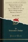 Unknown Author - Transactions of the Twenty-Seventh Annual Meeting of the Maine Homoeopathic Medical Society