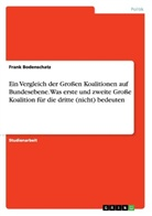 Frank Bodenschatz - Ein Vergleich der Großen Koalitionen auf Bundesebene. Was erste und zweite Große Koalition für die dritte (nicht) bedeuten