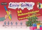 Martin Leuchtner, Bruno Waizmann - Einfacher!-Geht-Nicht: 24 Weihnachtslieder für Sopran-Blockflöte (Barocke Griffweise), m. 1 Audio-CD