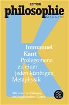 Immanuel Kant, Edition Philosophie Magazin, Editio Philosophie Magazin - Prolegomena zu einer jeden künftigen Metaphysik
