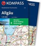 KOMPASS-Karten GmbH - Kompass Wanderkarten-Taschenatlas Allgäu, m. 1 Karte