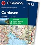 KOMPASS-Karte GmbH, KOMPASS-Karten GmbH - Kompass Wanderkarten-Taschenatlas Gardasee, m. 1 Karte