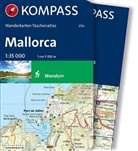 KOMPASS-Karten GmbH - Kompass Wanderkarten-Taschenatlas Mallorca, m. 1 Karte