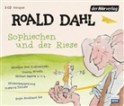 Roald Dahl, Peer Augustinski, Michael Habeck - Sophiechen und der Riese, 3 Audio-CDs (Hörbuch)