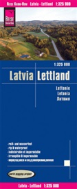 Reise Know-How Verlag Peter Rump, Reise Know-How Verlag Peter Rump - Reise Know-How Landkarte Lettland / Latvia (1:325.000)