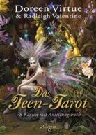 Valentine, Radleigh Valentine, Virtue, Doreen Virtue - Das Feen-Tarot, Tarotkarten m. Anleitungsbuch