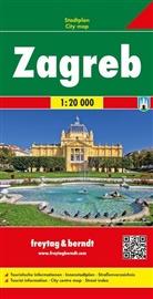 Freytag-Berndt und Artaria KG, Freytag-Bernd und Artaria KG - Freytag & Berndt Stadtplan Zagreb. Zagabria