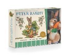 Beatrix Potter, Charles Santore - The Peter Rabbit Plush Gift Set - The Classic Edition Board Book + Plush Stuffed Animal Toy Rabbit Gift Set