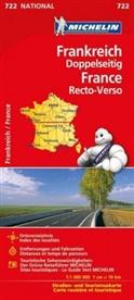 Michelin - Michelin Karte Frankreich doppelseitig. France, recto-verso