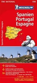 MICHELIN - Michelin Karte Spanien / Portugal. Espagne, Portugal