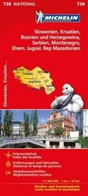 Michelin - Michelin Karte Slowenien, Kroatien, Bosnien und Herzegowina, Serbien, Montenegro, Ehem. Jugosl. Rep. Mazedonien