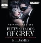 E L James, E. L. James, Merete Brettschneider - Fifty Shades of Grey - Gefährliche Liebe, 2 MP3-CDs (Hörbuch)