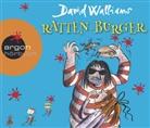 David Walliams, Katharina Thalbach - Ratten-Burger, 3 Audio-CDs (Hörbuch)