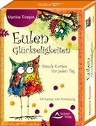Martina Trimpin, Martina Trimpin - Eulen-Glückseligkeiten, 44 Meditationskarten m. Anleitung