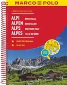 MARCO POLO Reiseatlas Alpen, Norditalien 1:300 000. Marco Polo Alpes, Italie du nord. Marco Polo Alps, Northern Italy