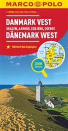 MARCO POLO Karte Dänemark West 1:200 000. Danmark Vest / Denmark West / Danemark Ouest