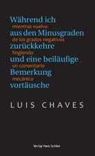Luis Chaves - Während ich aus den Minusgraden zurückkehre und eine beiläufige Bemerkung vortäusche. Mientras vuelvo de los grados negativos fingiendo un comentario mecánico
