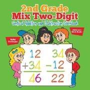 Baby,  Baby Professor - 2nd Grade Mix Two-Digit Vertical Addition and Subtraction Workbook | Children's Math Books