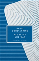 David Constantine, Dirk van Gunsteren - Wie es ist und war