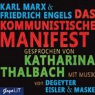 Friedrich Engels, Kar Marx, Karl Marx, Katharina Thalbach - Das Kommunistische Manifest, 2 Audio-CD (Hörbuch)