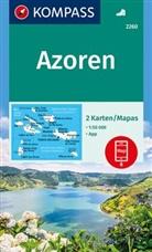KOMPASS-Karten GmbH, KOMPASS-Karte GmbH - Azoren 1:50 000