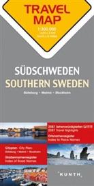 Carte de Voyage Suede du Sud 1 : 300 000