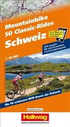 COLLECIF, Christian Steiner, Hallwag Kümmerly+Frey AG, Hallwa Kümmerly+Frey AG - Mountainbike: 50 Classic-Rides: Schweiz   1:60 000
