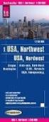 Reise Know-How Verlag Peter Rump, Reise Know-How Verlag Peter Rump - Reise Know-How Landkarte USA 01, Nordwest (1:750.000) : Washington und Oregon