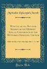 Methodist Episcopal Church - Minutes of the Seventh Session of the Detroit Annual Conference of the Methodist Episcopal Church