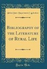 United States Department Of Agriculture - Bibliography of the Literature of Rural Life (Classic Reprint)