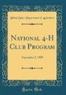 United States Department Of Agriculture - National 4-H Club Program