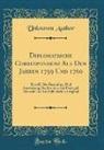 Unknown Author - Diplomatische Correspondenz Aus Den Jahren 1759 Und 1760