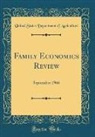 United States Department Of Agriculture - Family Economics Review