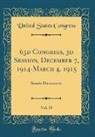 United States Congress - 63d Congress, 3d Session, December 7, 1914-March 4, 1915, Vol. 15