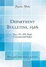 United States Department Of Agriculture - Department Bulletins, 1916