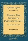 Unknown Author - Federal Fire Society of Portsmouth, N. H