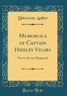 Unknown Author - Memorials of Captain Hedley Vicars