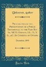 Unknown Author - Proceedings at the Presentation of a Public Testimonial to the Very Rev. Ae. MCD. Dawson, LL. D., V. G., &C. By Citizens of Ottawa