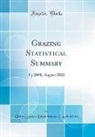 United States Department Of Agriculture - Grazing Statistical Summary