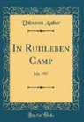 Unknown Author - In Ruhleben Camp