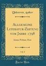 Unknown Author - Allgemeine Literatur-Zeitung vom Jahre 1798, Vol. 1