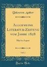 Unknown Author - Allgemeine Literatur-Zeitung vom Jahre 1828, Vol. 2