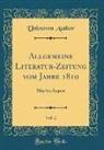 Unknown Author - Allgemeine Literatur-Zeitung vom Jahre 1810, Vol. 2