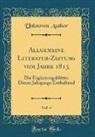 Unknown Author - Allgemeine Literatur-Zeitung vom Jahre 1813, Vol. 4