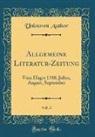 Unknown Author - Allgemeine Literatur-Zeitung, Vol. 3