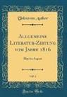 Unknown Author - Allgemeine Literatur-Zeitung vom Jahre 1816, Vol. 2