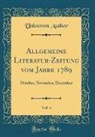Unknown Author - Allgemeine Literatur-Zeitung vom Jahre 1789, Vol. 4